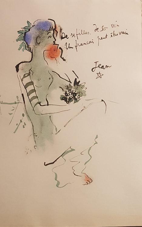 Lithographie originale de Jean Cocteau