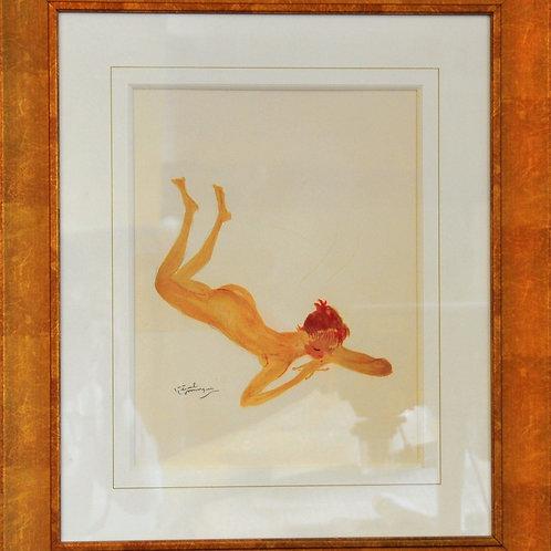Lithographie originale - Domergue
