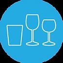 Highball and wine glass rental