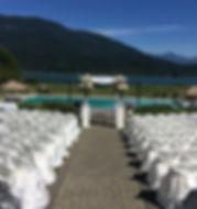 Wedding Reception by Okanagan Lake.