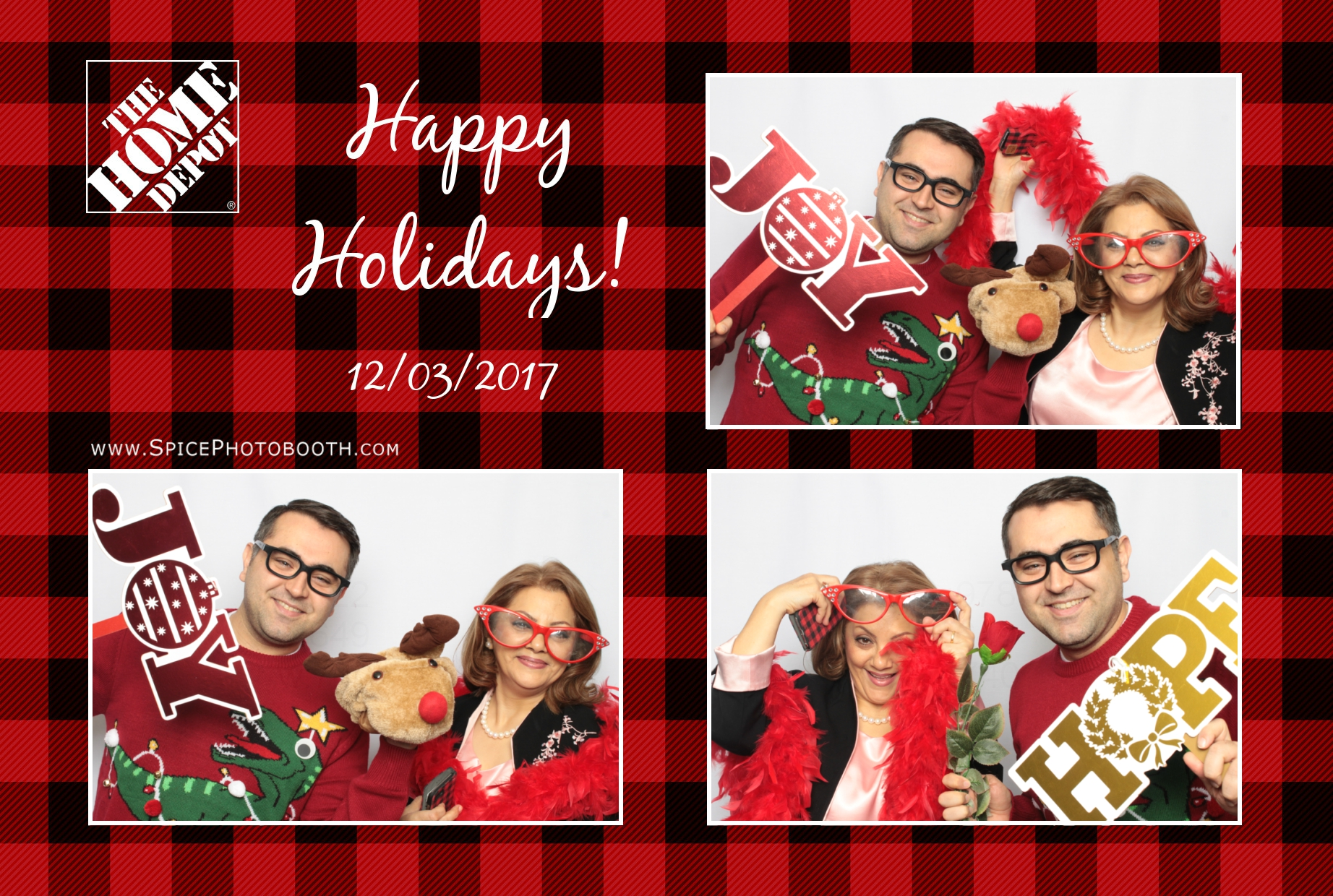 Holiday photo booth rental
