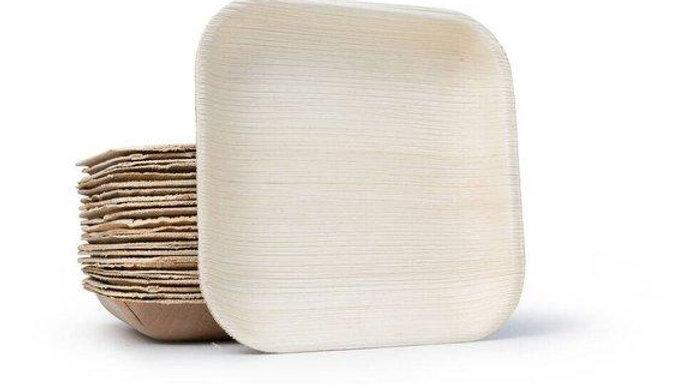 "Palm Leaf Plates Square 7"" Inch (Set of 100/50/25)"