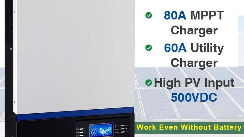Solar Inverter 500Vdc 5000W 80A MPPT 48V 220V