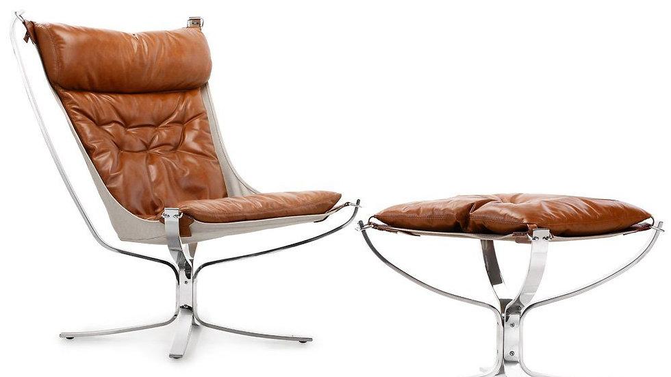 Einar Chair With Ottoman