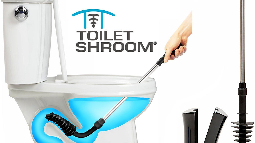 ToiletShroom (Black) Toilet Plunger That Unclogs Toilets in Seconds