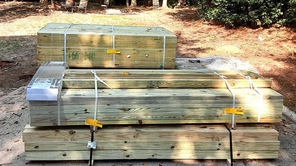 100ft wood fencing bundle