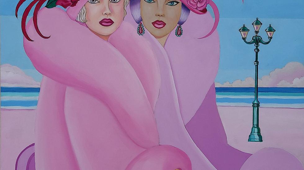 Original Painting Palm Beach Ladies