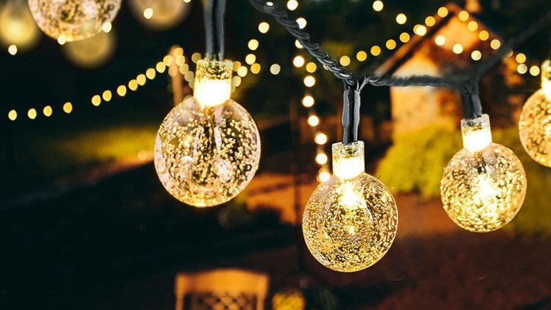 LEDS Crystal Ball solar Lamp