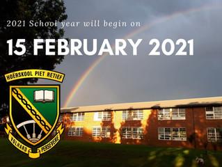 RE-OPENING OF SCHOOLS 2021