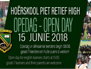 OPEDAG 2018 OPEN DAY