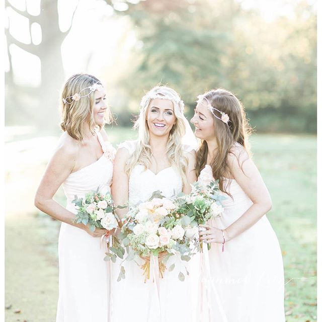 Photo by _summerlilyphoto Gorgeous girls at _moggerhangerpk wedding venue on a beautiful winters day