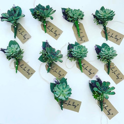 It's been a long morning.... the most gorgeous succulent button holes for the most gorgeous Groom &