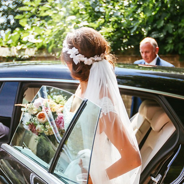 Photograph by _suzywimbournephotography #wedding #bride #realwedding #flowercrown #veil #summer #wed