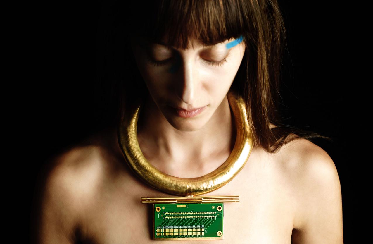enigma statement neckpiece