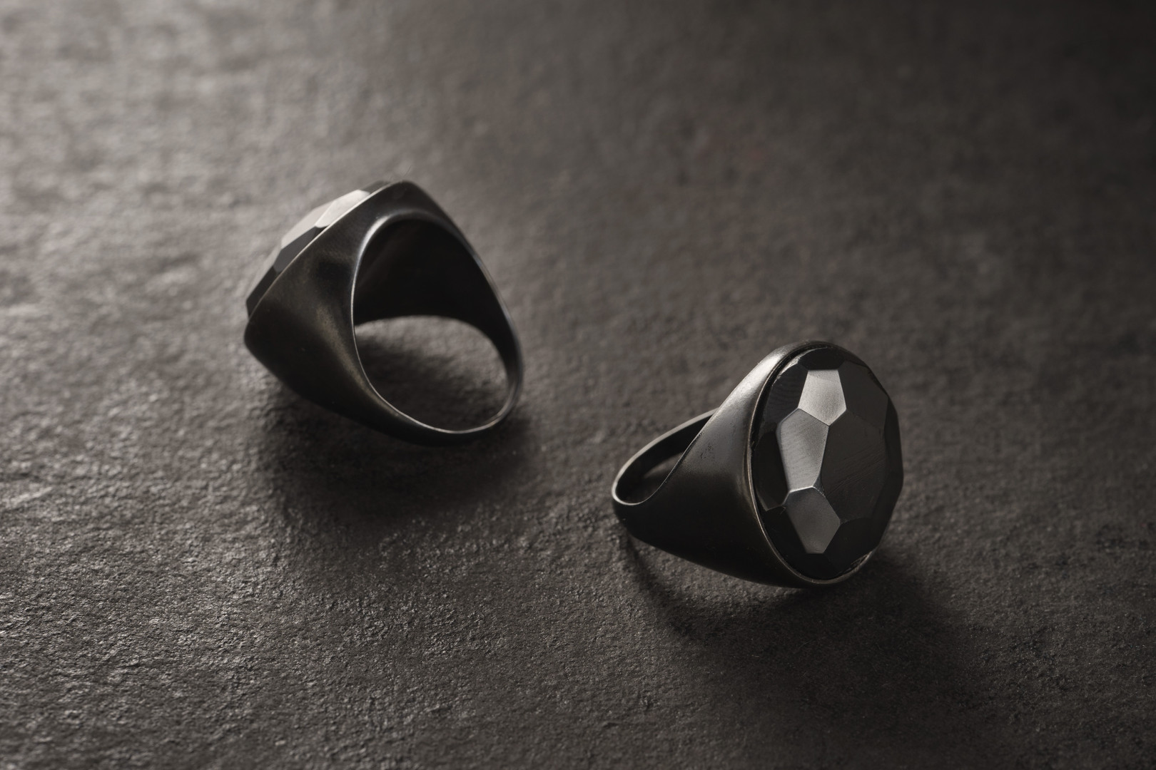 black matter signet ring