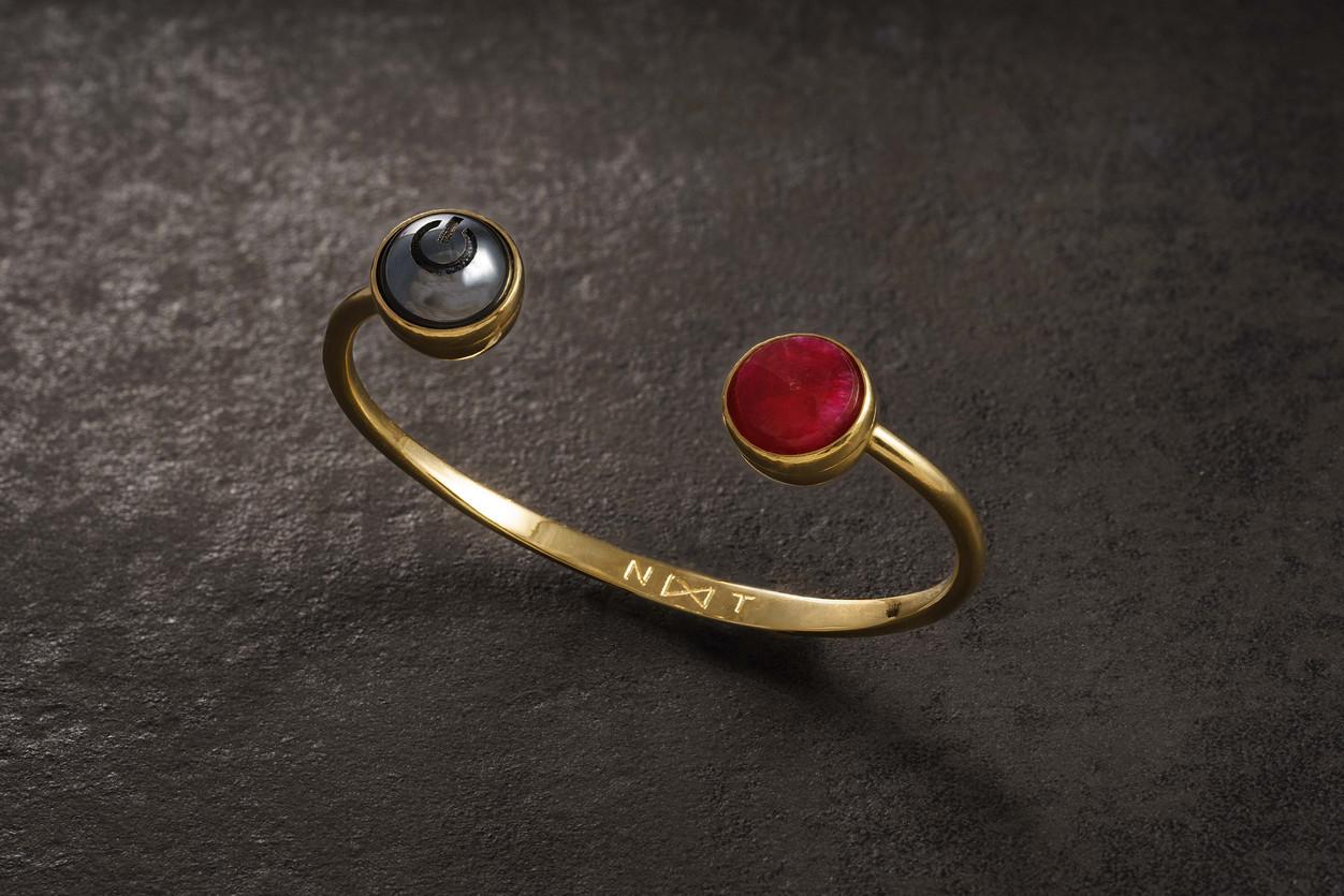 on-off ruby bracelet