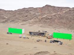 Movie Set Construction Green Screens