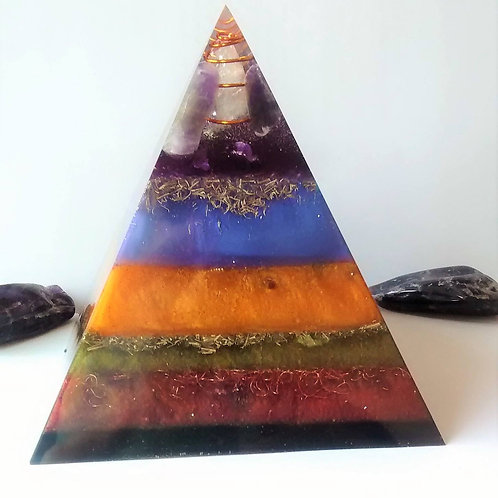 Shungite infused Orgone Pyramid