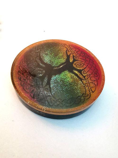 Shungite infused Orgone Coaster, Tree of Life