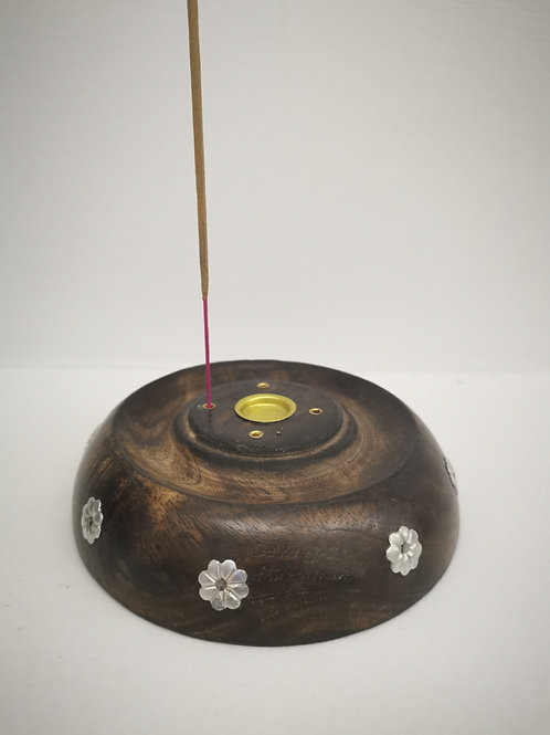 Wooden Incense and Cone Holder