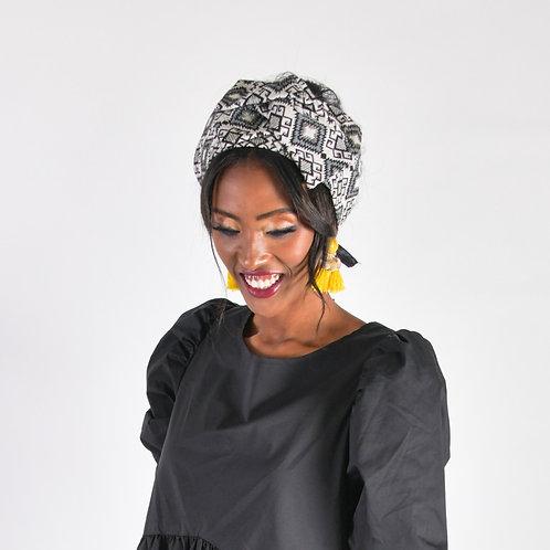 דגם זימבבואה שחור-לבן