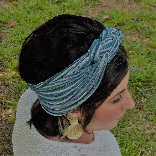 טורבן גפן ירוק-כחול