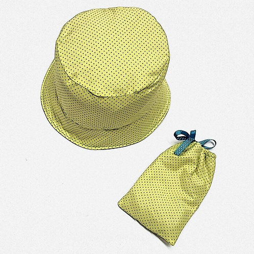כובע ונרתיק למשקפי שמש