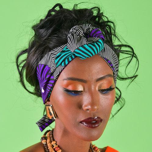 דגם גאנה סגול-ירוק
