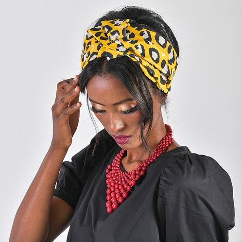 טורבן זמביה מנומר צהוב
