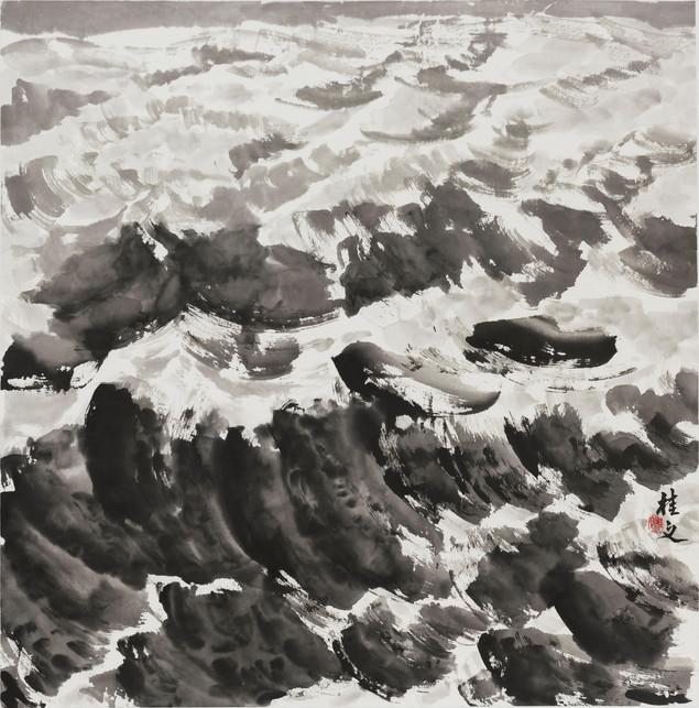 浪 Waves 69 x 69 cm