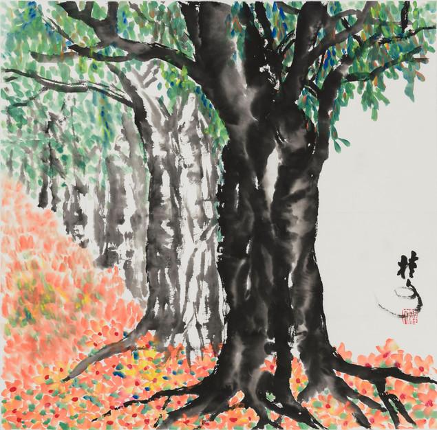 樹 Trees 69 x 69 cm