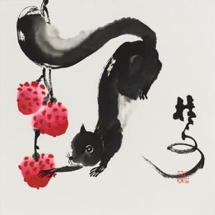 松鼠 3 Squirrel 3 34 x 34 cm