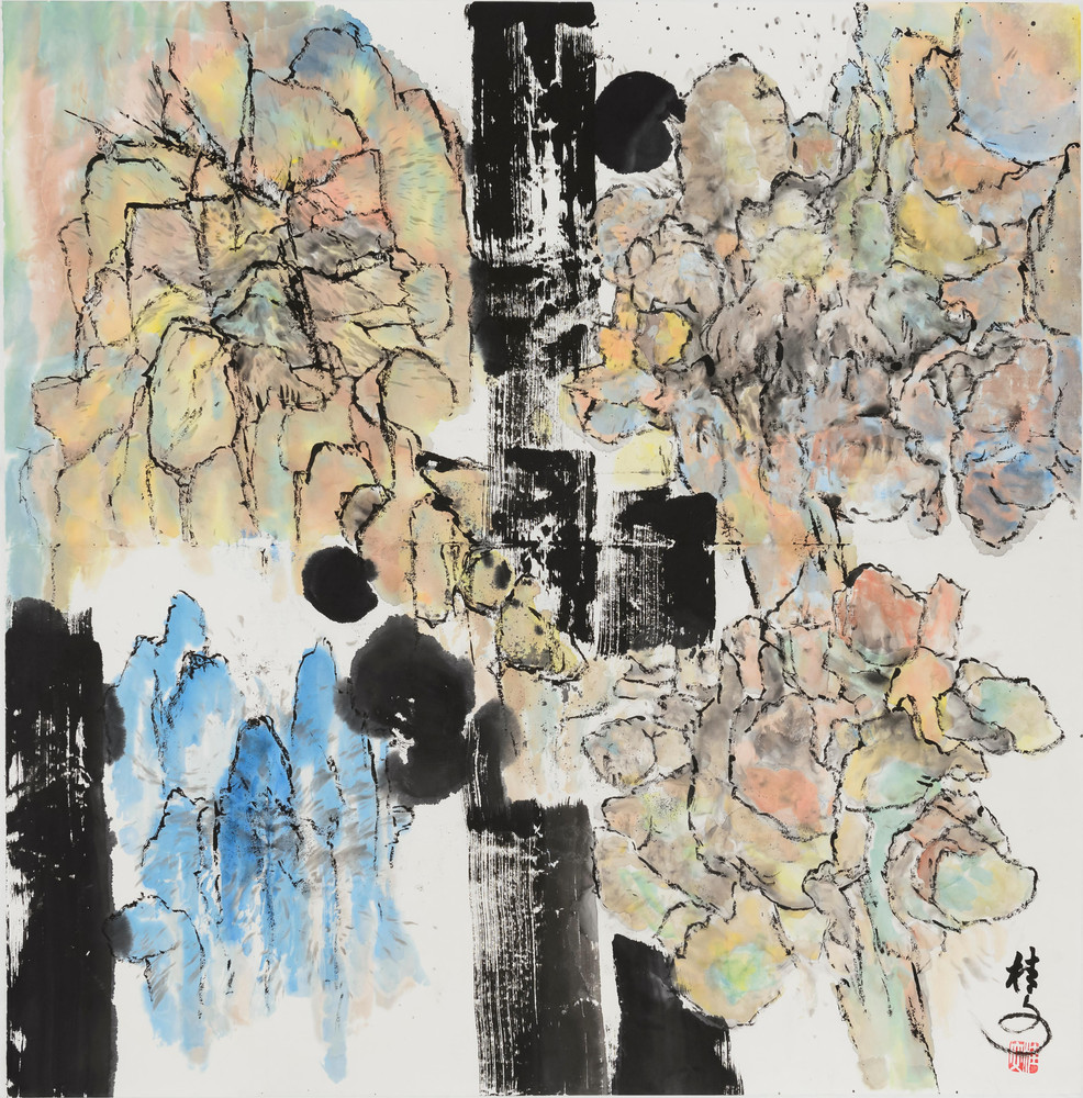 四方山水 Landscape 69 x 69 cm