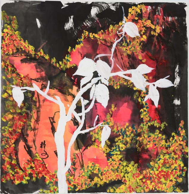 秋色 Autumn Scene 69 x 69 cm