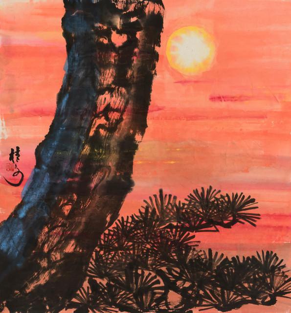 夕陽斜倚 Beautiful Sunset 69 x 69 cm