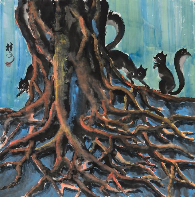 根 Roots 69 x 69 cm