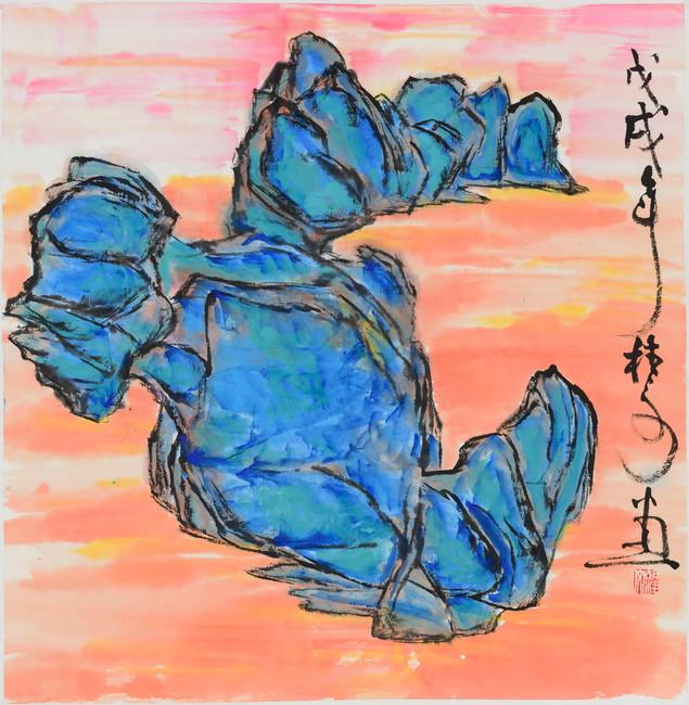 青山 Blue Mountain 69 x 69 cm