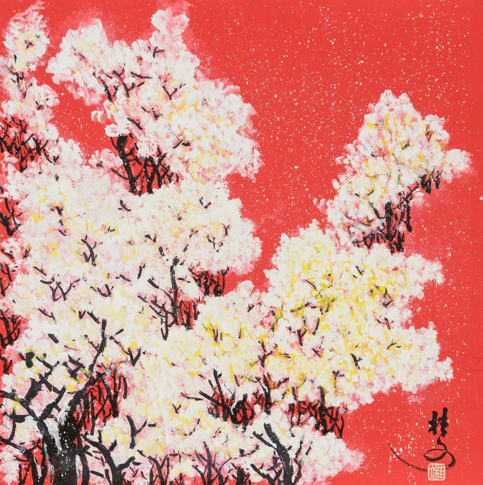 春雪 Spring Snow 69 x 69 cm