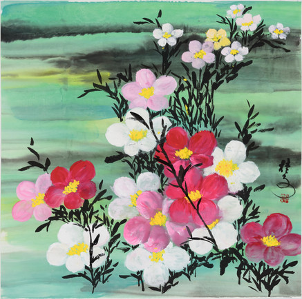 小花叢 (一) Little Flowers 1 69 x 69 cm