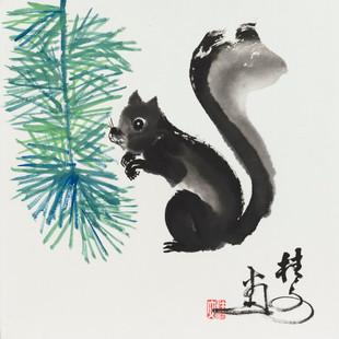 松鼠 2 Squirrel 2 34 x 34 cm