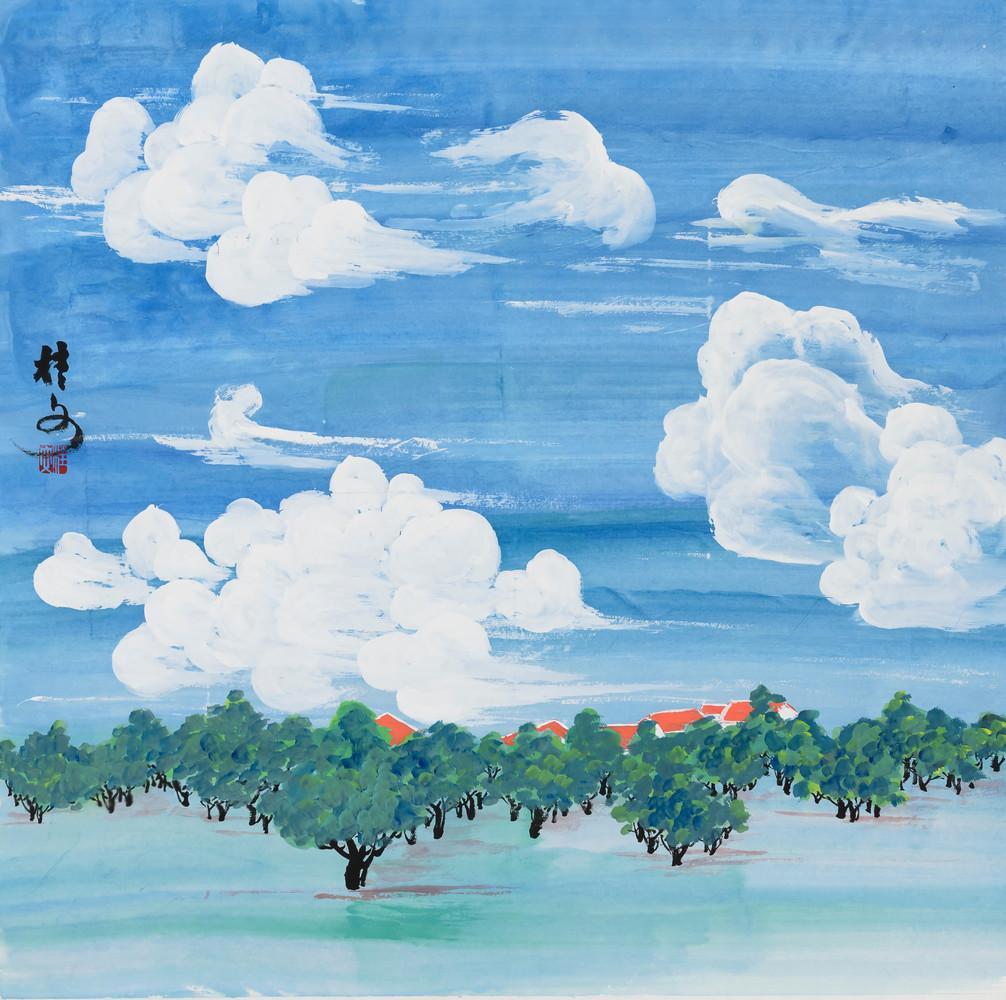 藍天白雲  Fascinating Clouds 69 x 69 cm