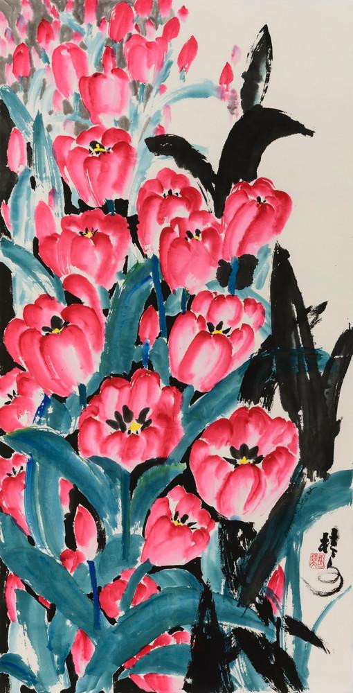 鬰金香 Tulips 70 x 138 cm