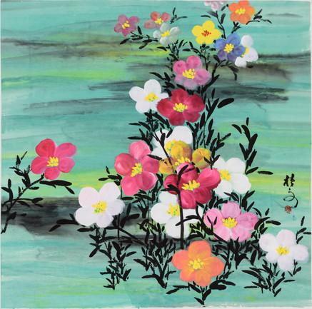 小花叢 (二) Little Flowers 2 69 x 69 cm