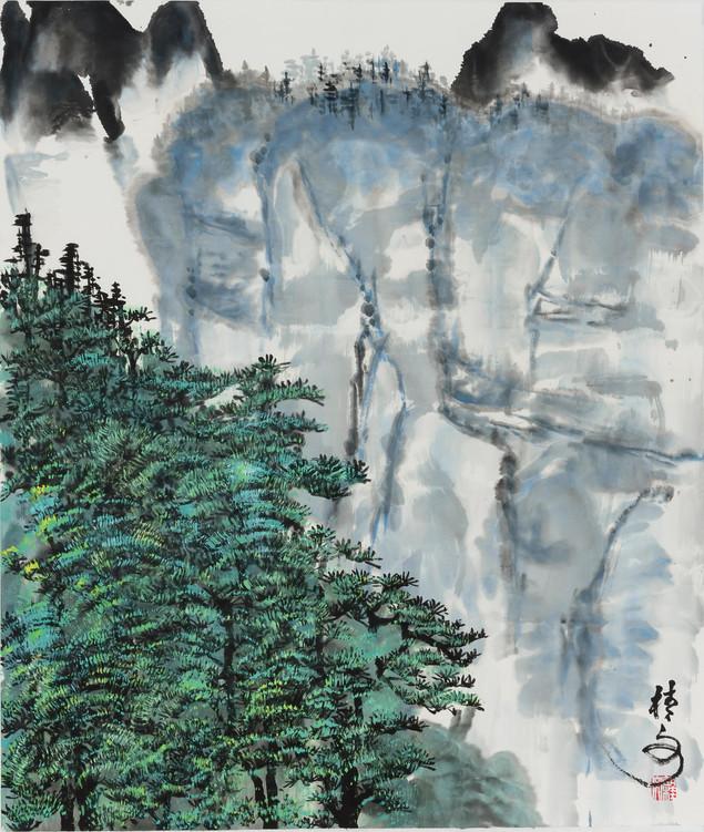 高山松林 Mountain of Pine Trees 88 x 70 cm