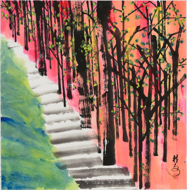 春林 Spring Woods 69 x 69 cm