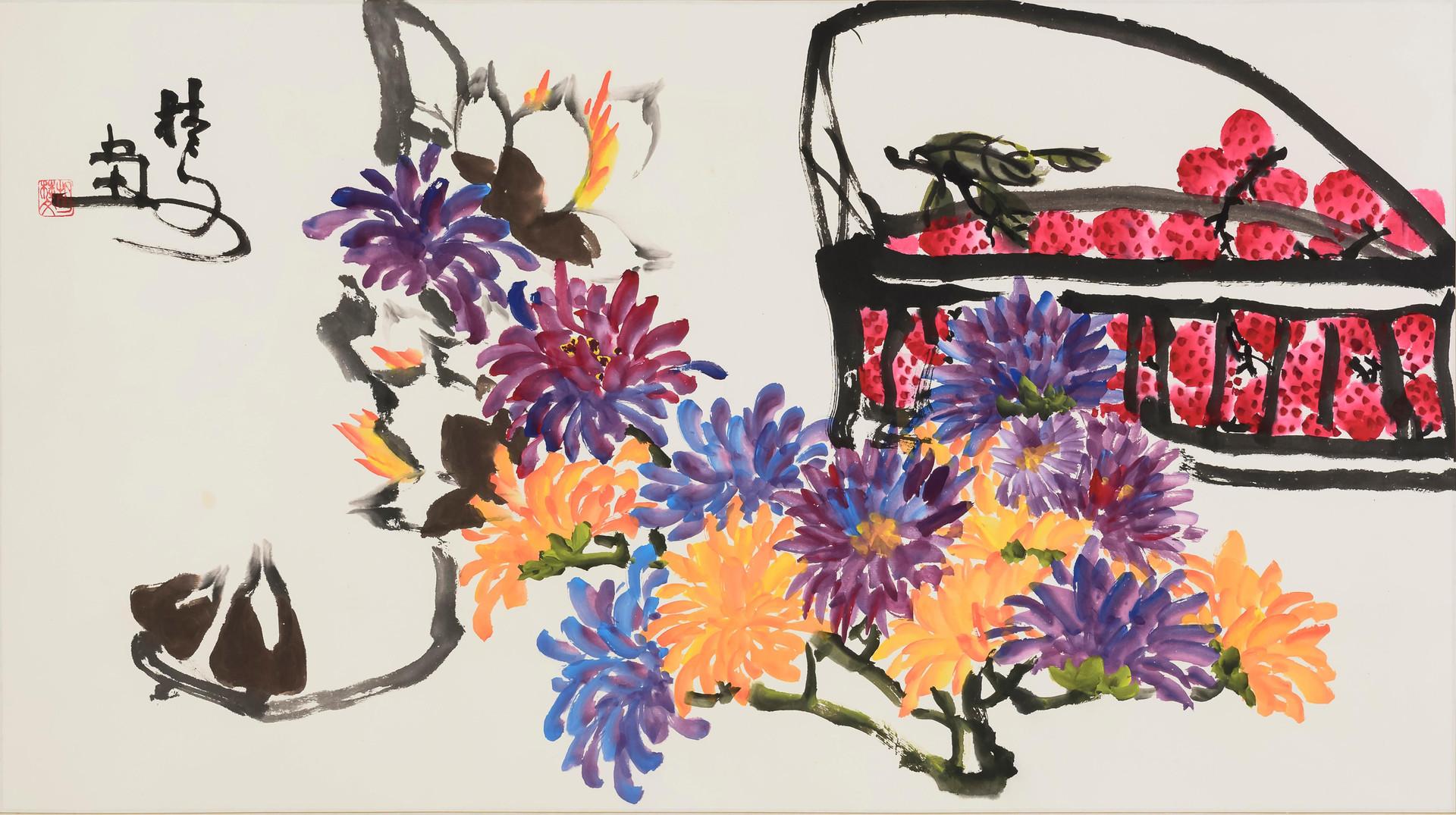 花果圖 Flowers & Fruits 138 x 70 cm