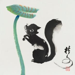 松鼠 1 Squirrel 1 34 x 34 cm