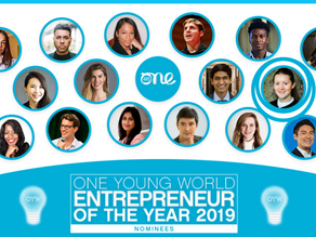 Founder and CEO gets shortlisted for 'Entrepreneur of the Year' by One Young World