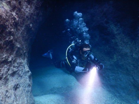 Entrance To Underwater Cave