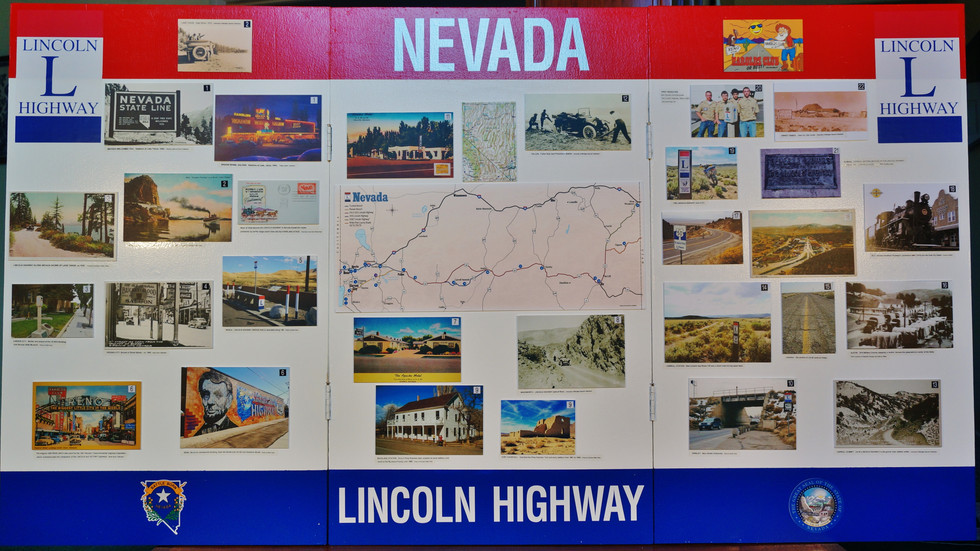 Lincoln Highway in Nevada Display